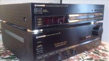 Pioneer radio, pojačalo i zvučnici u kompletu