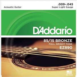 Dadario EZ 890, 009 - 045 žice za akustičnu gitaru