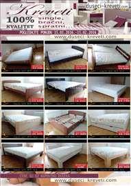 Najveća akcija dušeka i kreveta po željenim merama