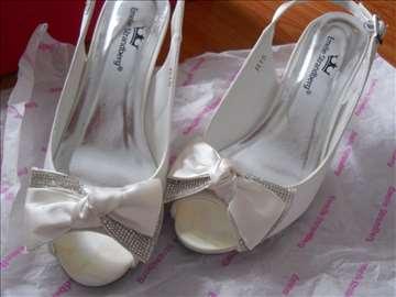 Satenske sandale za mladu