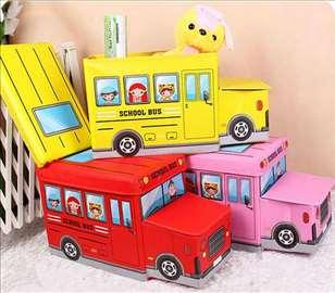 Autobus / Dečji tabure sa korpom za odlaganje igr
