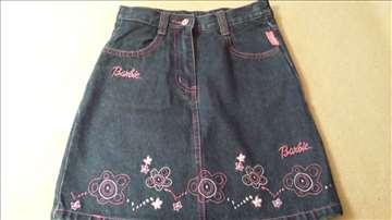 Barbie teksas suknjica vel. 6/7 g. (122 cm)