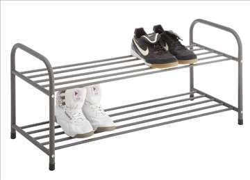 Polica za odlaganje obuće sa 2 pregrade