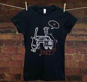 Zvanična EXIT majica-ženska crna majica gitara