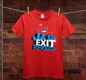 Zvanična EXIT majica - ženska crvena majica Rev.