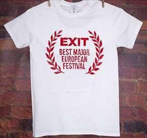 Zvanična EXIT majica-ženska bela majica BMEF