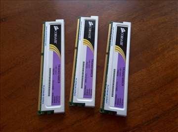 Corsair 6gb 3x 2gb DDR3 1600MHz memorija