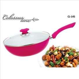 Keramički wok sa poklopcem