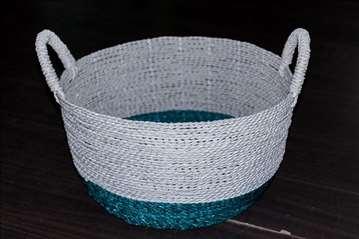 Korpa od kanapa belo-plava