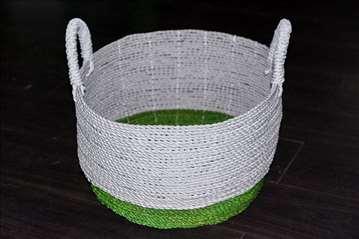Korpa od kanapa belo-zelena