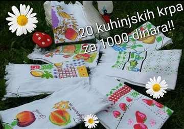 Kuhinjske krpe 20 komada za 1000dinara
