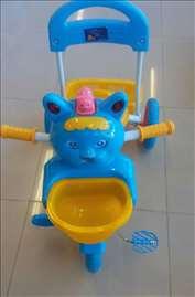 Tricikl za decu plavo-žuti
