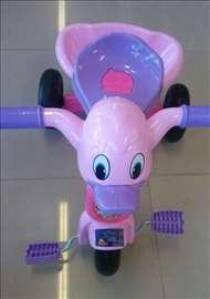 Tricikl za decu roze-ljubičasti