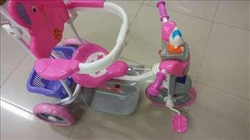 Tricikl za decu sa korpom roze