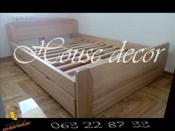 Bracni krevet Kan natur 160x200+2 fioke AKCIJA