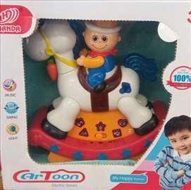 Konjić sa jahačem igračka za decu