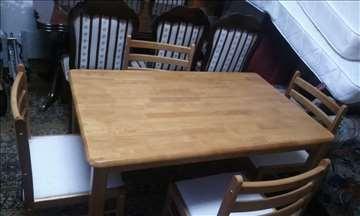 prodaje  sto sa 4 stolice nove