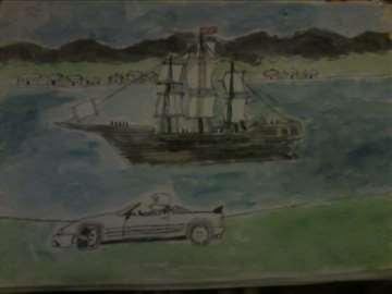 jedrenjak i auto