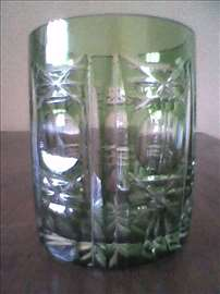 Čaša kristalna, zelena