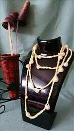 Dugačke ogrlice od vunice i perlica