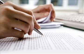 Obrada i koncipiranje svih vrsta tekstova
