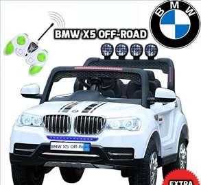 BMW X5 Off-Road auto na akumulator 12V dvosed beli