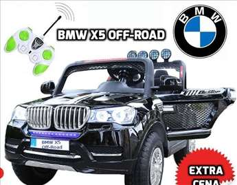 BMW X5 Off-Road auto na akumulator 12V dvosed crni