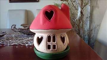 Kuća ljubavi - figura i svećnjak