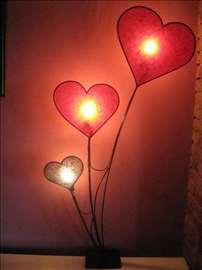 Podna lampa Srce 135cm