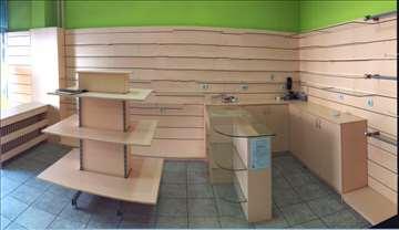 Police, pult i komode za butik, galeriju, obuću