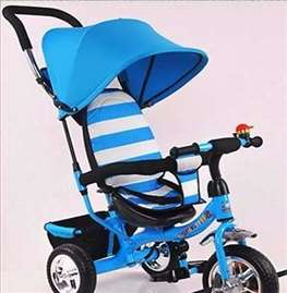 Tricikl za decu Playtime Plavo Beli