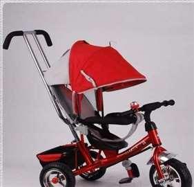 Tricikl za decu Playtime Podesivi Naslon Crveni