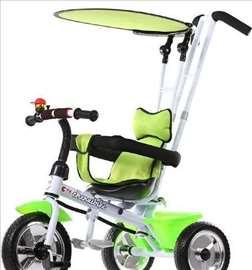 Tricikl za decu sa tendom Playtime, zeleni