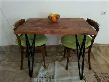 Trpezarijski sto u industrijskom stilu
