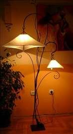 Podna lampa Stasa dvokraka 195cm