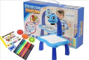 Projektor stočić za crtanje za dečake - novo