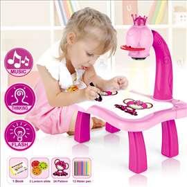 Projektor Stočić za crtanje za devojcice - novo