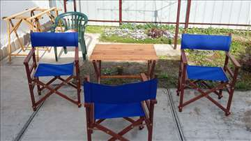 Režiserske stolice i sto