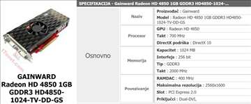Gainward Radeon HD 4850 1GB GDDR3
