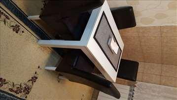 Sto i 4 stolice  +panfleks staklo +4 jastučića