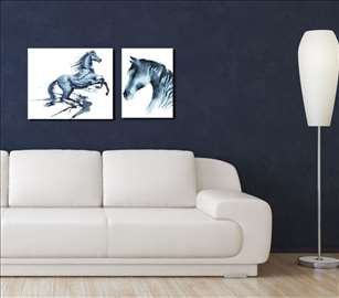 Komplet dve slike Konj 3