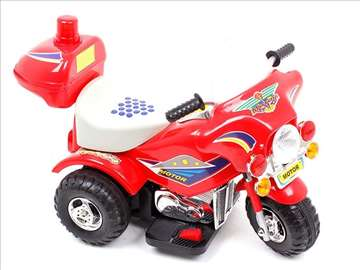 Dečiji motor na akumulator crvene boje