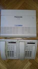 Panasonic telefonska centrala KX-TES824 + KX-T7730