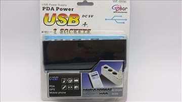 USB+razdelnik napona za auto, NOVO