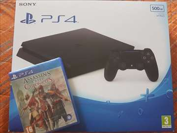 Nov Sony PS4 + igrica + garancija 2 god