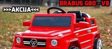Brabus G80-V8 džip na akumulator za decu crveni