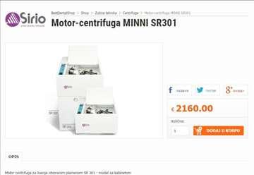 Rotaks- Motor-centrifuga Sirio Minni SR301 - nov