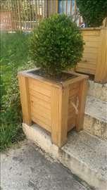 Ručno pravljene drvene saksije - veličina po želji