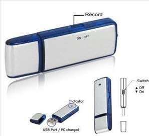 Audio prisluškivač snimac razgovora-USB