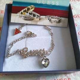 Guess srebrna narukvica sa Swarovski kristalom